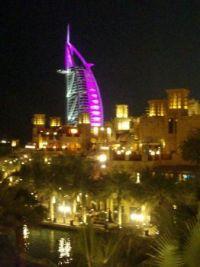 The Burj Al Arab Hotel at Night