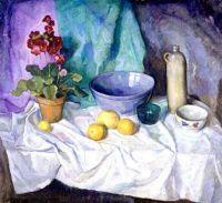 Still Life with Geranium and Citrus Fruit, c.1933, N. C. Wyeth (1882-1945)