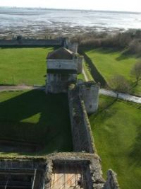 From the keep, Porchester Castle, England.