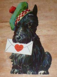 A Vintage Valentine Scottie Card