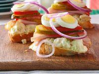 Ham, Potato Salad Sandwiches