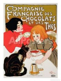 French Company of Chocolate and Tea by Théophile Alexandre Steinlen