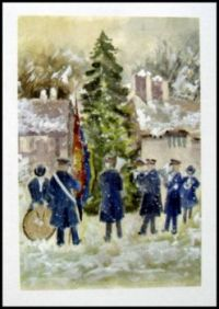 Seasonal - Winter - Art Card - Scenic Snow - Salvation Army Band 1 (Small)