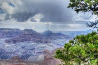 Rainstorm at Grand Canyon