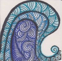 Tangle waves - drawing