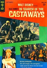 GOLD KEY Comic - Walt Disney's IN SEARCH OF THE CASTAWAYS - 1962 HAYLEY MILLS, MAURICE CHEVALIER