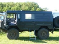 A 'dikke DAF' (big DAF). A former army vehicle. Now used as camping car, and to pull the caravan