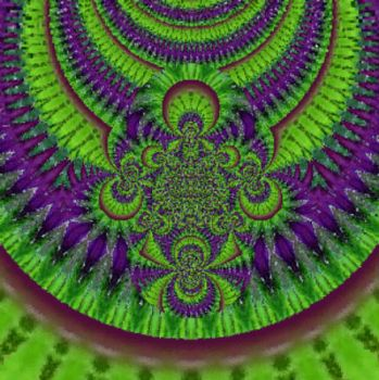 Green and Purple Kaleido Burst
