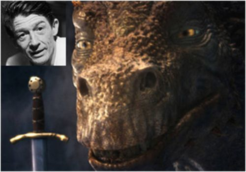 RIP John Hurt Voice of Dragon in Merlin | 12 pieces jigsaw ...