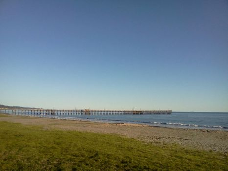 Goleta pier with a clear sky