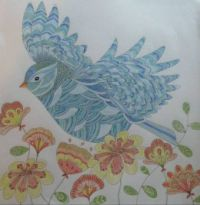 Bird 4 - colorinig book
