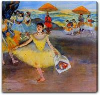 Dancer with a Bouquet Bowing by Edgar Degas