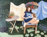 Reading in the April Sunshne