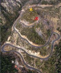 Highway 89A from the air