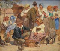 Joakim Skovgaard (Danish, 1856–1933), Market Day in Sora (1893)