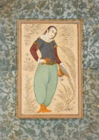 Unknown Iranian artist,  Portrait of a Young Man (mid-1600s)