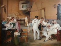Danish artists at a Roman osteria