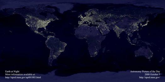 earth @ night