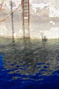 St Monans Harbour Wall Reflections
