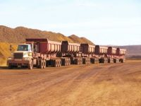 500 tonne payload Powertrans Road Train