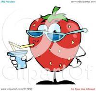 Strawberry Juice CLIP ART 153
