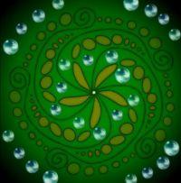 Pentagonal green flower