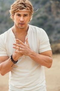 Cream also suits him: Chris Hemsworth