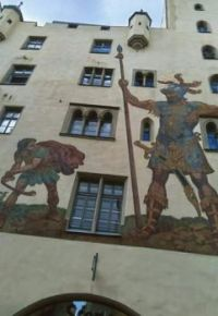 David and Goliath in Nuremberg, Germany