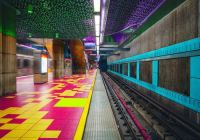 Hollywood themed metro station in LA