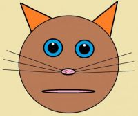 Wobblybear Creations 058 - Brown cat (smaller version)