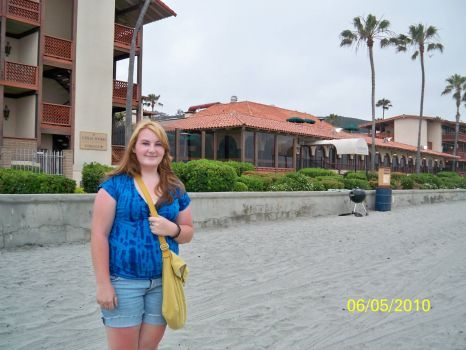 Hannah at our Hotel in La Jolla