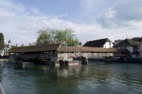 Covered Footbridge in Lucerne, Switzerland