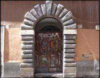 Doorway With Graffiti-Italy