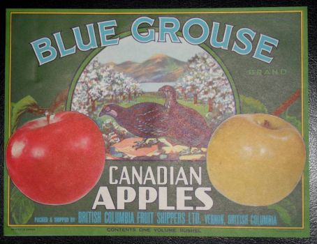 Old Apple Packing Box Label