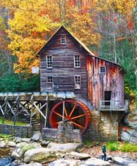 The Glade Creek Grist Mill - West Virginia...