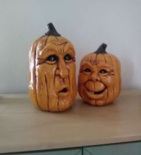 Antigued Ceramic Pumpkins