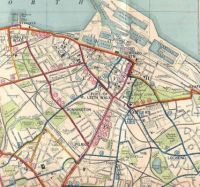 Leith - tram and bus routes, 1937