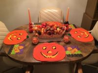 Grandma's pumpkin table