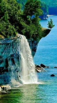 * Spray Falls, Pictured Rocks National Seashore