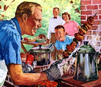 FAMILY BARBECUE - 1952