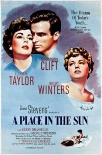 A PLACE IN THE SUN - 1951 POSTER  MONTGOMERY CLIFT, ELIZABETH TAYLOR & SHELLEY WINTERS