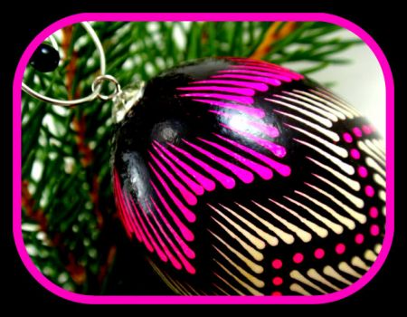 Unique Pinknblack Christmas ornament by EggstrArt@Esty