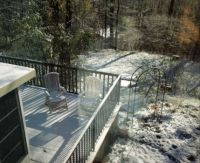 Our sundeck today - May 2 (but it's melting now)