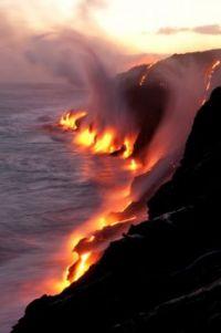 Where lava meets the ocean