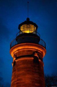 Erie PA Lighthouse, pre dawn 2016