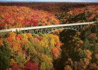 bridge on  us 2  in the Upper Peninsula...look at the beautiful colors....wow!!