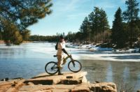 Aric mountain biking
