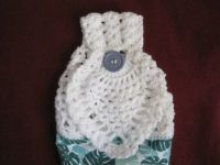crochet pineapple towel topper