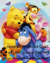 good friends are like stars..