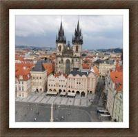 Praha - pohled na Týnský chrám...  Prague - view of Týn Cathedral ...